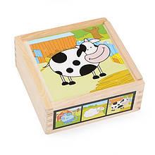 Деревянные кубики в пенале IE139