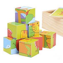 Деревянные кубики животные IE140