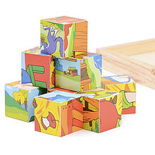 Деревянные кубики ферма IE145