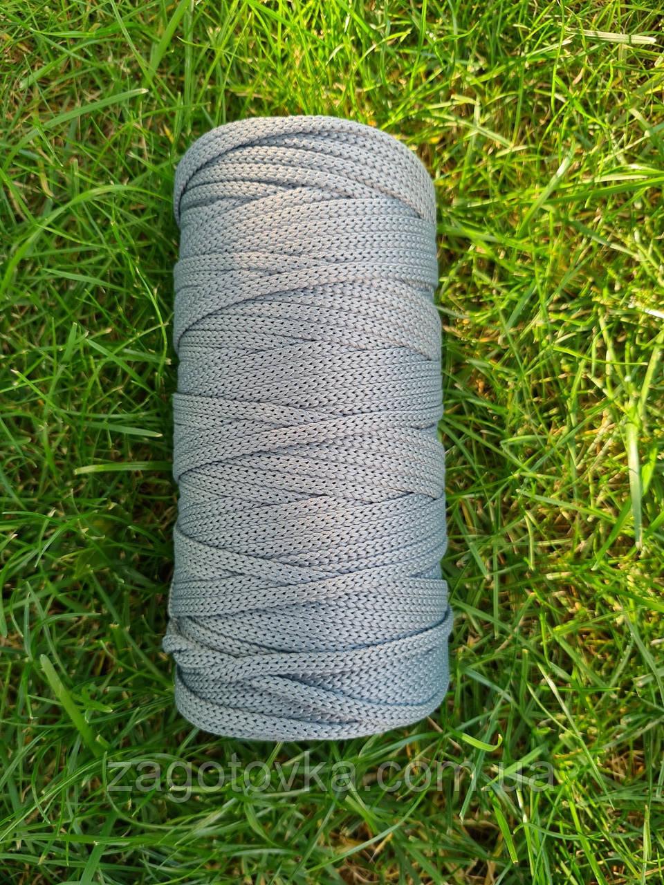 Полиэфирный шнур без сердечника 5мм #37 Шалфей