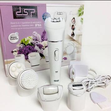 Многофункциональный Набор 5в1 эпилятор, точилка для ног, триммер, массажер DSP 80015