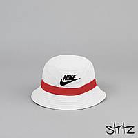 Новенькие Летние Белые Панамы Nike (Унисекс) Стильные Белые Пляжные Панамки Найк