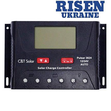 Контроллер заряда C&T Solar Pulsar 3024 с USB-зарядкой, фото 2