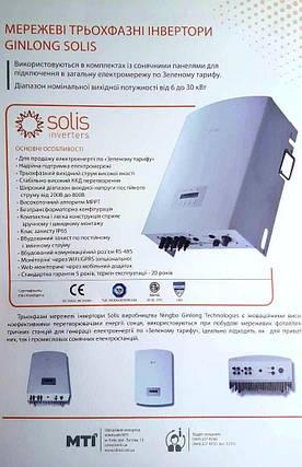 Сетевой инвертор Solis 10К (10 кВт, 3 фазы /2 трекера), фото 2