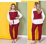Женский брючный костюм блузка и брюки 3 расцветки размер: 58-60, фото 7