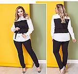 Женский брючный костюм блузка и брюки 3 расцветки размер: 58-60, фото 6