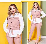 Женский брючный костюм блузка и брюки 3 расцветки размер: 58-60, фото 8