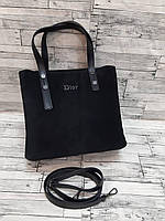 Женская стильная сумка Диор замша, фото 1