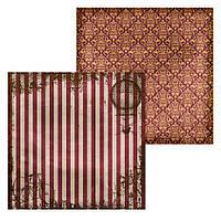 2 Лист двусторонней бумаги для скрапбукинга, коллекция Steampunk 30х30 см.