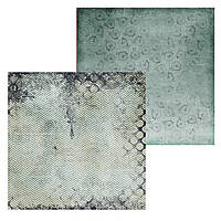 3 Лист двусторонней бумаги для скрапбукинга, коллекция Steampunk 30х30 см.