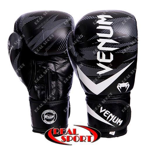 Перчатки боксерские кожаные Venum Impact VL-2038