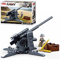 Конструктор SLUBAN M38-B0852 військовий, гармата, фігурка, 115дет., кор., 19-14,5-4,5 див.