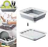 Чудо-сушилка трансформер (складная) для сушки посуды и кухонных приборов (люкс качество), фото 4