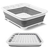 Чудо-сушилка трансформер (складная) для сушки посуды и кухонных приборов (люкс качество), фото 8