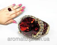 Кольцо с камнями Сваровски 1113 (18 р.)