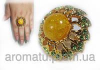 Кольцо желтое цветок 1114 (18 р.)