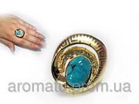 Кольцо с бирюзой 1115 (18 р.)