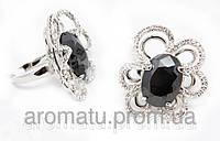 Кольцо цветок под серебро 1118 (19 р.)