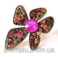 Кольцо цветок 1122