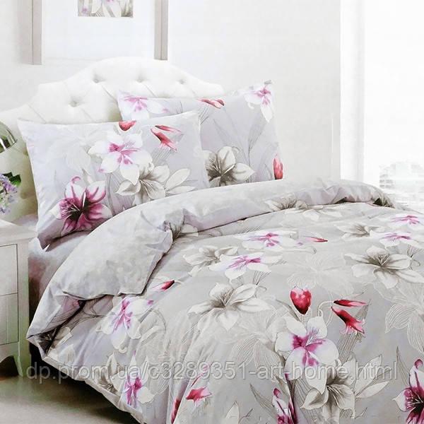 Комплект постельного белья евро Elway 5073 Lily