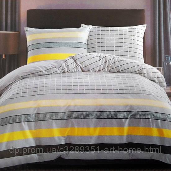 Комплект постельного белья полуторный Elway 5059 Yellow Stripes