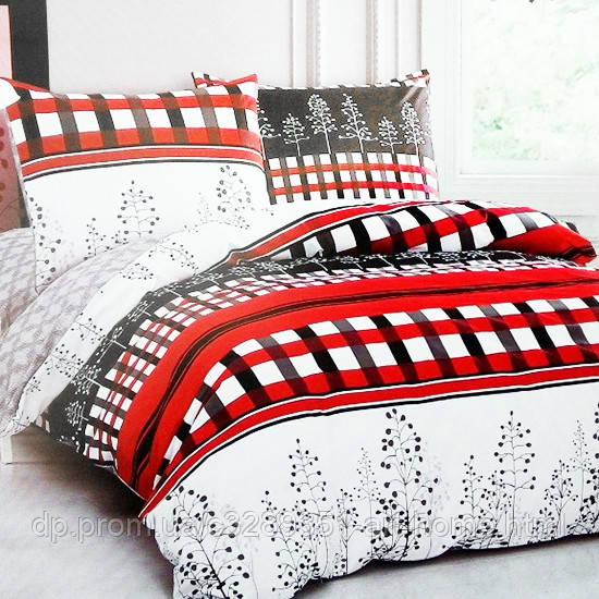 Комплект постельного белья семейный Elway 5078 Red and Black