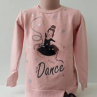 """Реглан для девочки 6-9 лет, с начесом. """"Балерина"""", фото 1"""