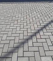 """Тротуарная плитка """"Кирпич"""" 200х100 высота 40мм серая"""