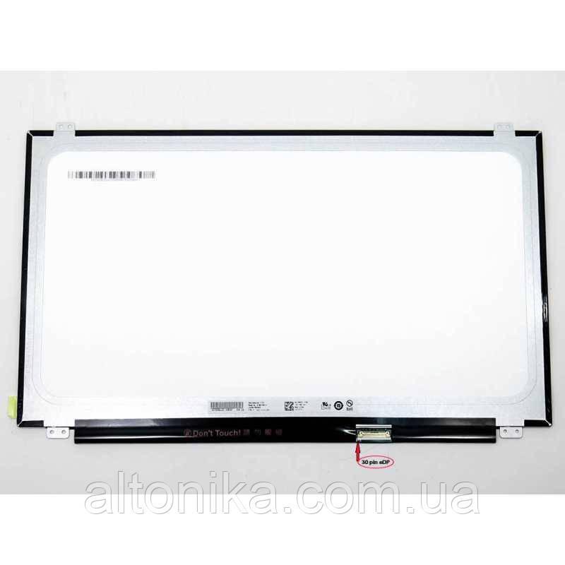 """LCD 15.6"""" B156XTN07.0 Тонкая/  Глянцевая/  ШлейфСправаВнизу/  ВертикальныеУшки- Крепления 30пин"""