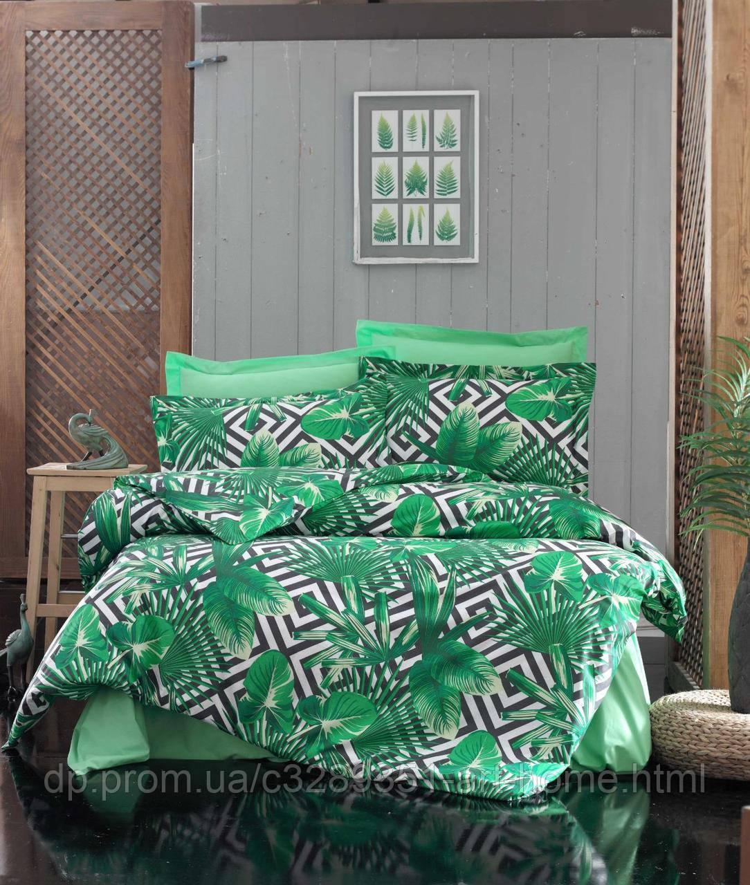 Постельное белье турецкое Даламан, листья пальмы
