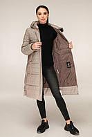 Зимова куртка подовжена в клітку з контрастною підкладкою з 44 по 56 розмір, фото 3