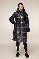 Зимова куртка подовжена в клітку з контрастною підкладкою з 44 по 56 розмір, фото 8