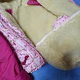 Тройка для новорожденных зимняя розовая для девочки., фото 3