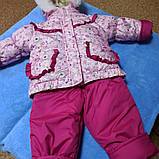 Тройка для новорожденных зимняя розовая для девочки., фото 2