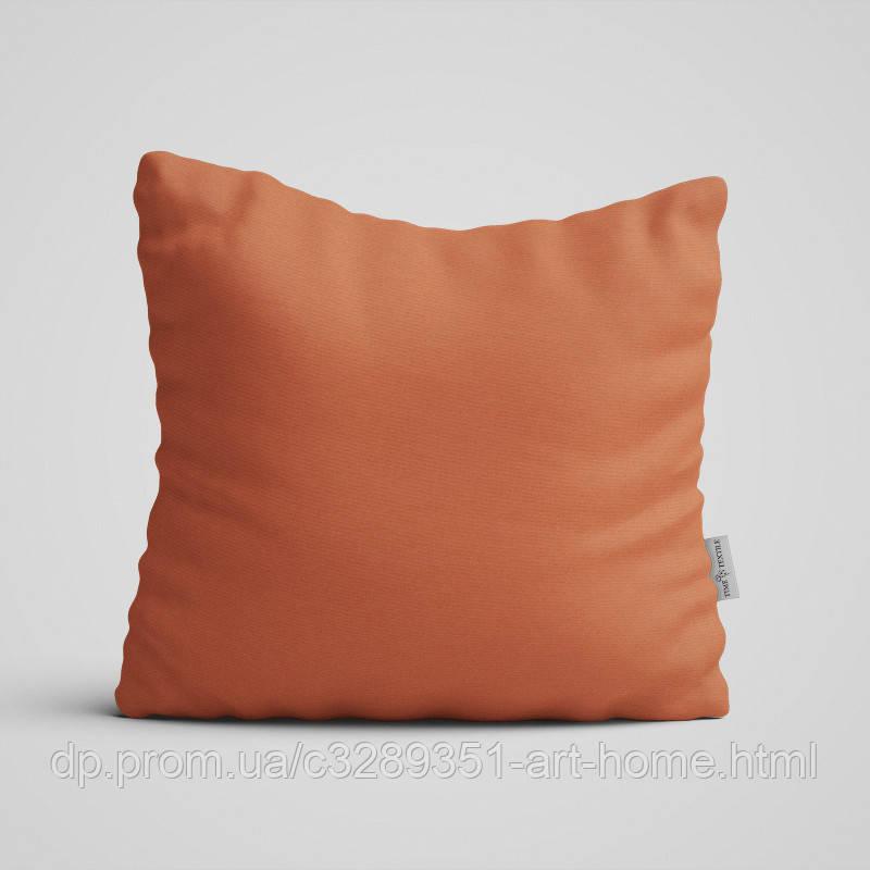 Декоративная подушка на диван Time Textile Kanzas Terracotta