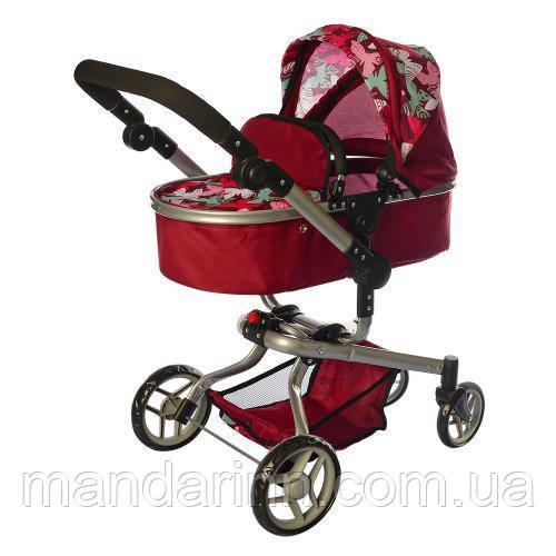 Коляска-трансформер для кукол Melogo 9695 Фиолетово-розовая