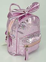 """Детский рюкзак голографический """"Звезды"""" - розовый, черный, золото, серебро, фото 1"""