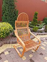"""Плетеное кресло-качалка """" Пружина"""""""