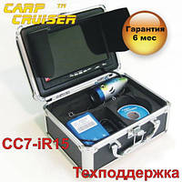 """Подводная видеокамера для рыбалки CARP CRUISER CC7-iR15 подсветка 12 ик диодов 7"""" монитор в кейсе , фото 1"""