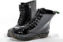 Лаковые Ботинки в стиле Dr. Martens, Доктор Мартинс, фото 2