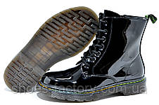 Лаковые Ботинки в стиле Dr. Martens, Доктор Мартинс, фото 3