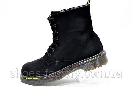 Ботинки в стиле Dr. Martens, Доктор Мартинс Black, фото 2