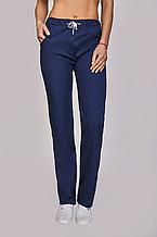 Классические женские медицинские темно-синие брюки из коттона 42-56