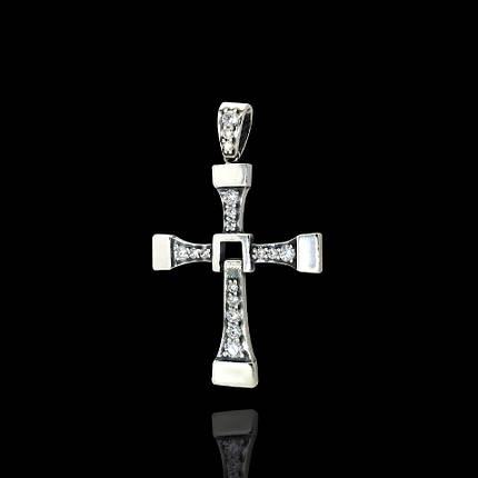 Срібний хрест Вин Дизеля, 5 грам, фото 2