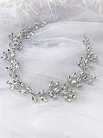 Веточка в прическу из кристаллов шикарный блеск, фото 1