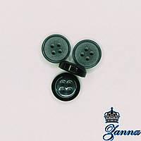 Пуговица (декор) пластиковая (18) черного цвета 10 шт, фото 1