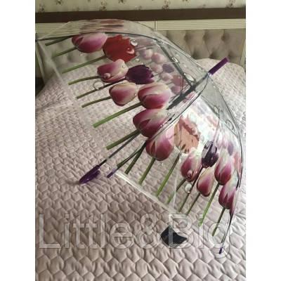 Детский прозрачный зонтик с цветами ( 337)