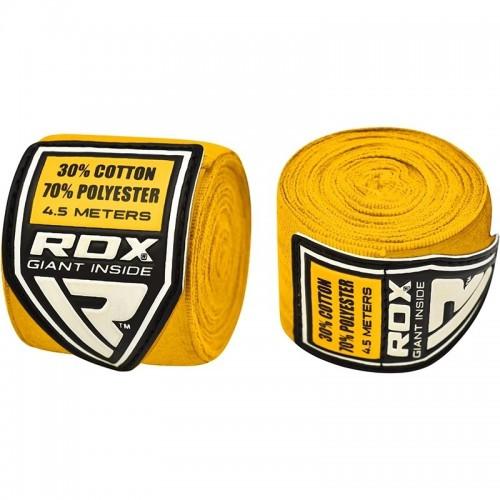 Бинты боксерские RDX Fibra Yellow 4.5 м