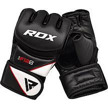 Перчатки ММА RDX Rex Leather Black M, фото 2