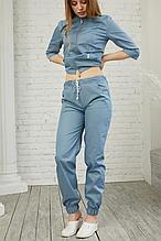 Женские медицинские светло-серые брюки из коттона размеры 42-64